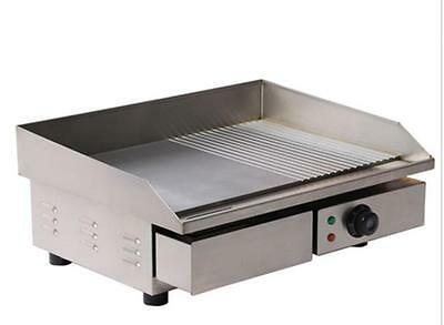 3KW 55CM Electric Griddle Grill Hot Plate Stainless Steel Commercial BBQ Grill E