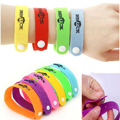 10 Anti Mosquito Repellent Bracelet Wristband Bands travel Camping Mozzie Insect