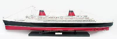 """SS FRANCE Ocean Liner 40"""" - Handcrafted Wooden Ship Model NEW"""