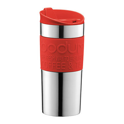 Bodum 2016 Stainless Steel TRAVEL MUG Mug, 0.35L - Coral Red