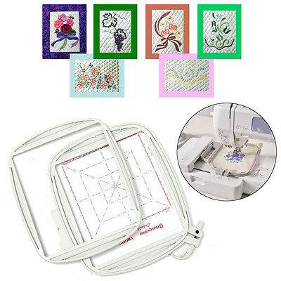 150x150mm Do All Quilter's Hoop Viking Designer Ruby DeLuxe Platinum Embroidery