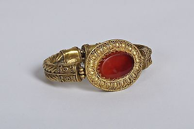 Ancient Gold and Garnet bracelet with central medallion