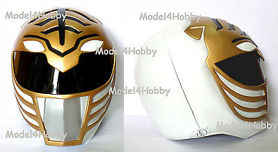 "Outside Cliplock! Cosplay! Mighty Morphin Power Rangers ""WHITE"" 1/1 Scale Helmet"