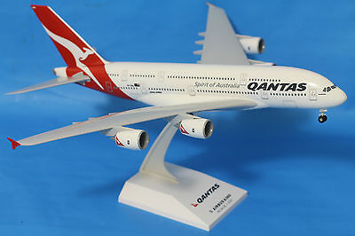 Geniune Qantas Airbus A380 Plane Solid Resin  1:200 Sky Marks 34cm Long VH-OQA