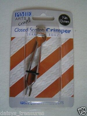 "Icing crimper Scallop shape cake decorating plain or serrated edge 1/2"" 13mm"