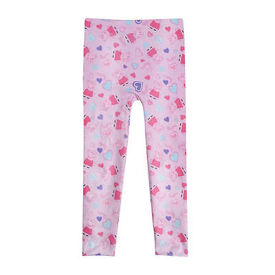 Official Licensed Girls Peppa Pig Pink Leggings Age 2-3 4-5 6-7 Years Bottoms
