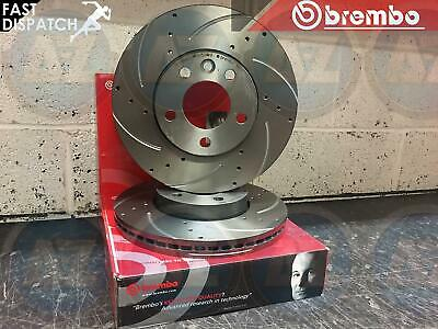 For Vw Touareg 5.0 Tdi 2002-2010 R50 Front Brembo Drilled & Grooved Brake Discs