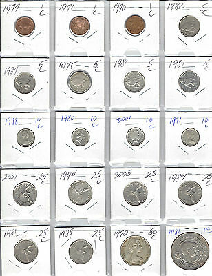 BERMUDA Lot of 20 Different Coins