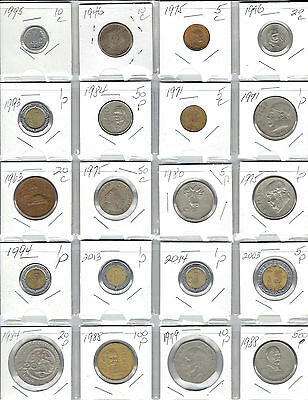 MEXICO Lot of 20 Different Coins
