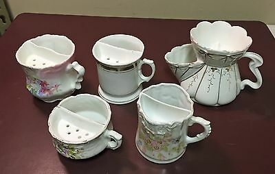 Lot of 5 Vintage Shaving Mugs / Scuttles
