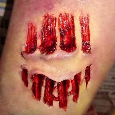 Bite mark! Deep and detailed latex scar, Halloween, zombie wound, cannibal, UK