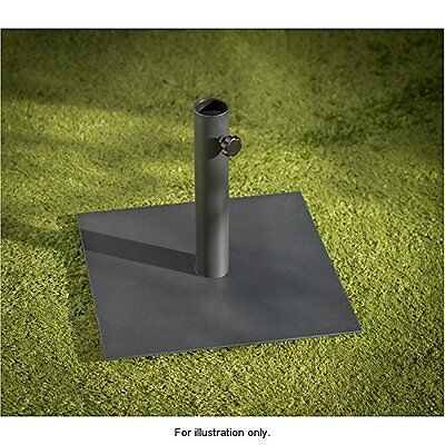 New York Square Parasol Base outdoor Gardening Flat Base Black Dimensions: W40 x