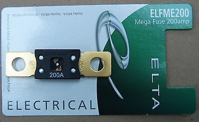 BRAND NEW 200 AMP MEGA Fuse £2.50 With Free Shipping To UK