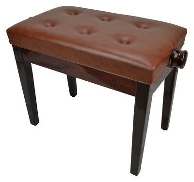 Piano Bench High Gloss Dark Brown by Sotendo