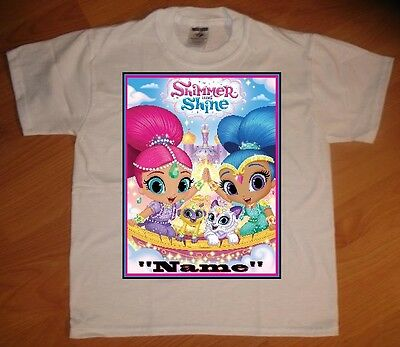 Shimmer and Shine High 5 Custom Personaliz​e Birthday Party Favor Gift T-Shirt