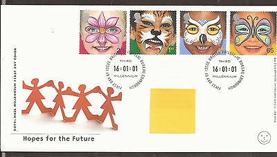 GB FDC 2001 Hopes for the Future