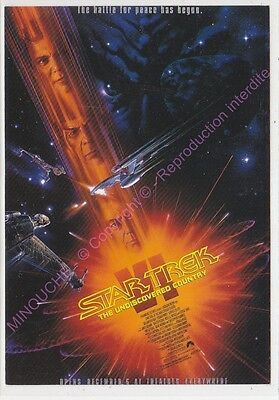 Cpm Cinema Affiche Star Trek Vi