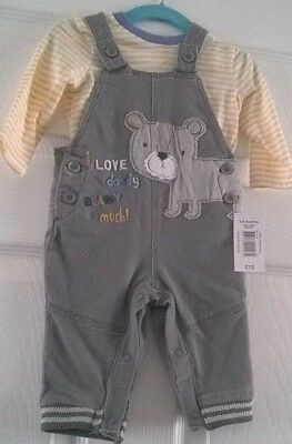 Baby Boys Long Sleeve Top and Dungarees Tiny baby up to 8lb / Newborn 8-10lb