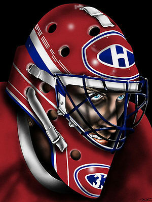 Hockey Goalie Mask Fine Art Print | Patrick Roy Montreal Canadiens | 18x24 in