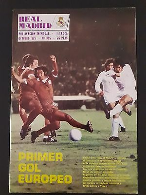 1975–76 European Cup.First round. R.Madrid- Dinamo București . 1st leg. Magazine