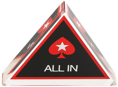 Acrylic All In Triangle Button Poker Accessory Gambling Casino Luck New
