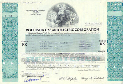 USA Amerika Rochester Gas and Electric Corporation alte Aktie Vignette