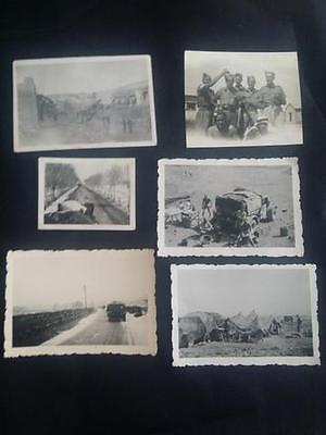 Photographs - A page of original WW2 British Soldiers in the field.