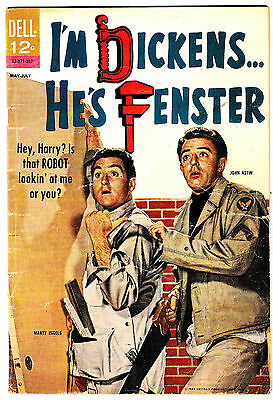 I'M DICKENS HE'S FENSTER #1 (VG) Classic TV Show! Photo Cover! 1963 Dell Comic