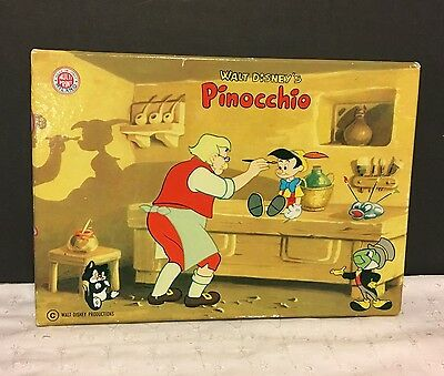 Vintage Walt Disney Pinocchio Rubber Stamp Set Made in Italy