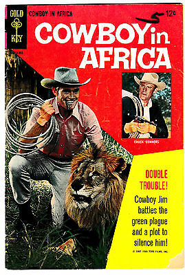 COWBOY IN AFRICA #1 (VG) Gold Key 1967 Classic TV Show! Photo Cover! LQQK