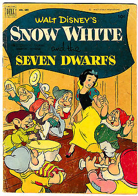FOUR COLOR #382 SNOW WHITE & THE SEVEN DWARFS (VG+) Dell Golden-Age Western 1951