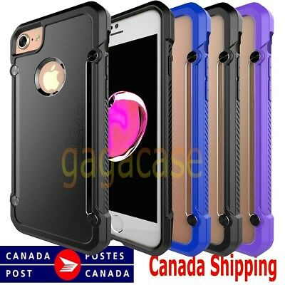 Hybrid Rubber Shockproof Protective Cover Case for Apple iPhone 7 & 7 Plus +