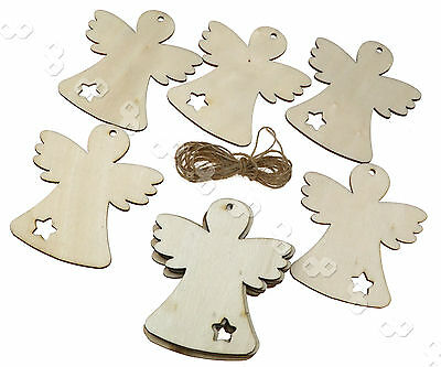 10 pcs Wooden Christmas Xmas Tree Hanging Decorations Gift Deer Wings Doll