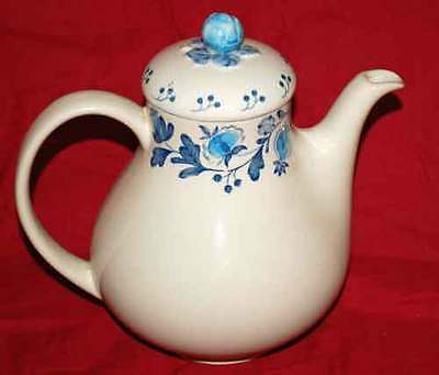 """Johnson Brothers Blue and Cream 9-1/4"""" Coffee Pot   Gretchen"""