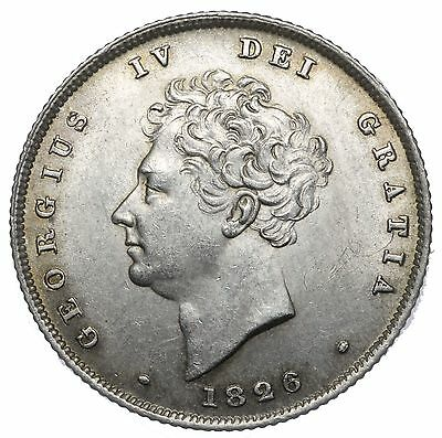 1826 Shilling - George Iv British Silver Coin - Superb