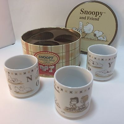Snoopy & Friend Ltd Ed Tin with 3 Mugs Peppermint Patty Marcie Charlie Brown