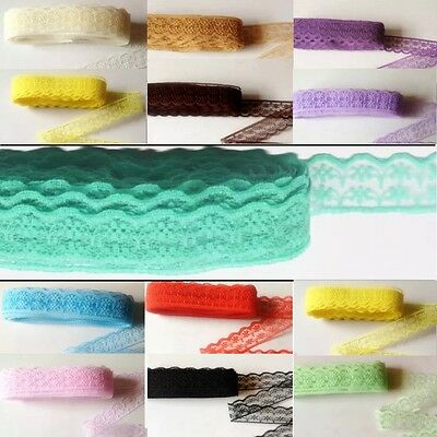 5 yds Lace Ribbon 2cm Wavy Trim scrapbook sewing craft #363