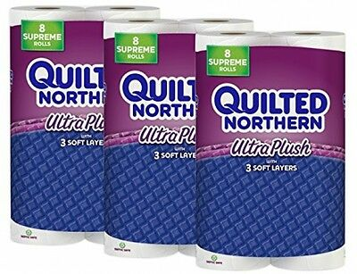 Quilted Northern Ultra Plush Toilet Paper, 24 Supreme (90+ Regular) Bath Tissue