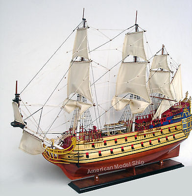 "Secret Of The Unicorn-LA LICORNE Tall Ship Assembled 36"" Built Wooden Model Boat"