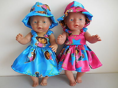 """Baby Born 17"""" Dolls Clothes Dora Summer Outfit"""