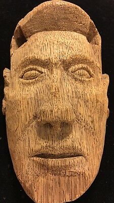 Native American Indian Carved Face Mask Hanging Portrait Wall Art