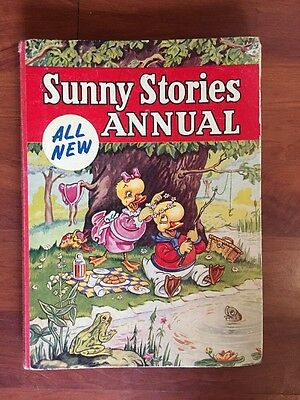 Collectable Sunny Stories childrens annual old book