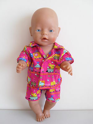 Baby Born Dolls Clothes Hot Pink Tricot Summer  Pj's