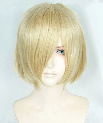 YURI!!! on ICE Yuri Plisetsky Cosplay Kostüme Gold Golden Perücke wig kurz short