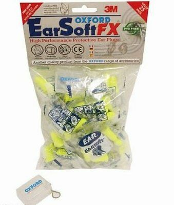 Oxford Ear Soft 25 Ear Plugs OF536 Motorcycle Motorbike 25 Pairs Pack BC29984 T