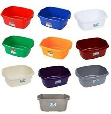 Wham Large 38cm Rectangle Plastic Washing up Sink Bowl Household - Colour Choice