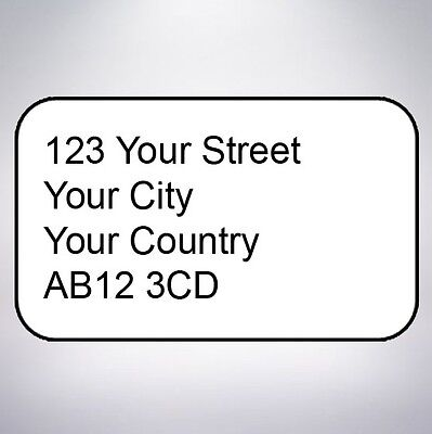 Return address printed small stickers custom labels postage personalised
