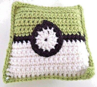 Pokemon Pokeball Handmade Crocheted Tooth Fairy Pillow New