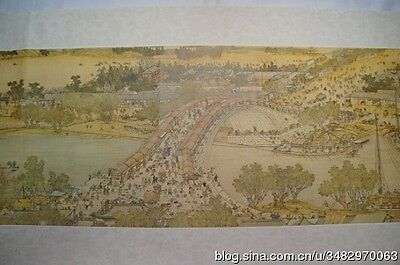 Qing Ming Shang He Tu, authentic reprint scroll from the National Palace Museum