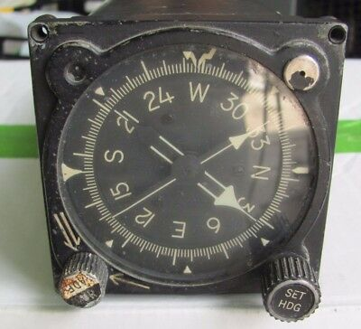 Aircraft Gyrosyn Compass Indicator Model C-6C Sperry